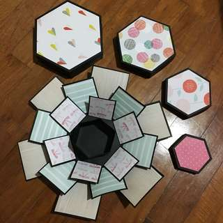 Hexagon Explosion Box! Four layers**