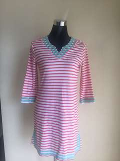 Striped Terry Cloth Dress