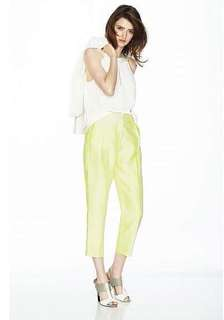 Size 4 Yellow Forcast Tailored Pants
