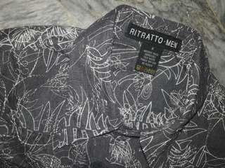 🏳REPRICED Floral Dark Gray Polo Long sleeveS