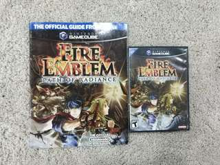 Gamecube game Fire Emblem Path of radiance with official guide