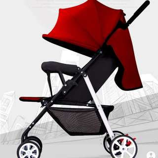Red Baby Travelling Stroller