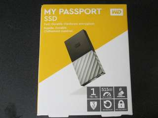 WD 1TB SSD my passport portable solid state external hard drive
