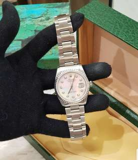 Rolex All Steel Men's 36mm Mother of Pearl with diamond dial ❤️BIG SALE P243k ONLY❤️ In mint condition With box Swipe for detailed pics  Cash/card/layaway accepted