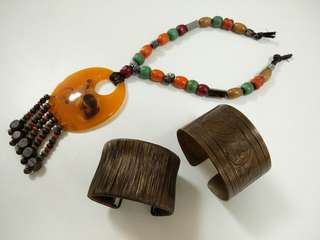 Statement Necklace and Bracelet