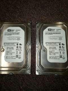 Western Digital 160GB HARD DRIVE x2