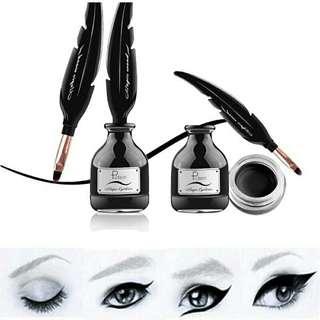 Waterproof Black Feather Ink Eyeliner Pencil  Liquid Eyeliner Long-lasting Eye Makeup