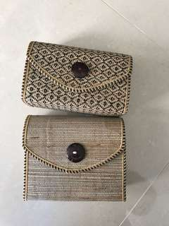 Bamboo Woven Sling Bags