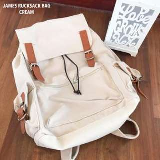 JAMES RUCKSACK-CREAM