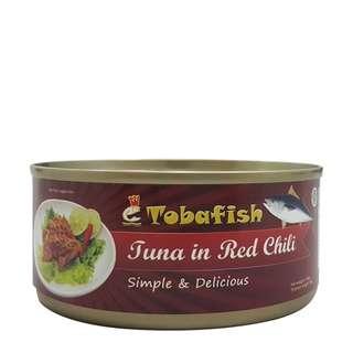 Tobafish Tuna in Red Chili / Tuna Sambal Balado - Tuna Kaleng - 140g