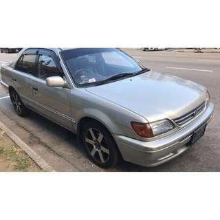 [BUDGET CAR] RETRO TOYOTA SOLUNA 1.5AUTO FOR RENT @ $38 PER WEEKDAY