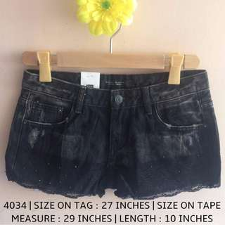 4034 DENIM SHORTS