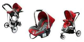Set stroller + carseat SCR
