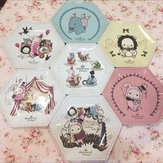 🚚 深情馬戲團六角拚圖陶瓷大餐盤系列