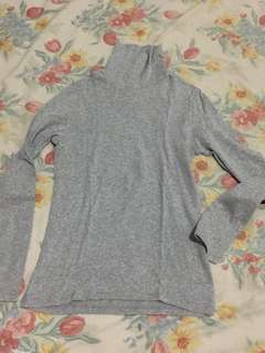 Uniqlo Grey Fit Long-sleeve Turtleneck