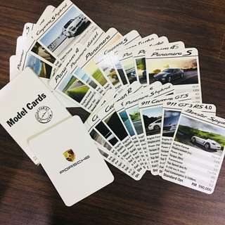 Porsche Model Cards For Collectors