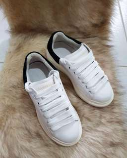 Authentic Alexander McQueen Ladies White Sneakers Size 36