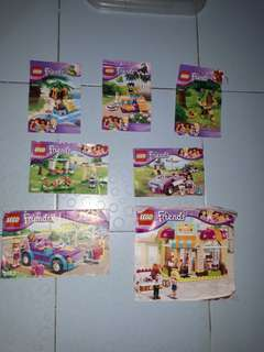 7 sets girls lego