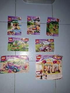 7 sets girls lego