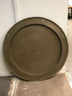 66cm brass round tray