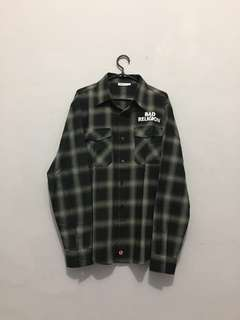 Bad Religion Embroidered Logo Flannel Shirt