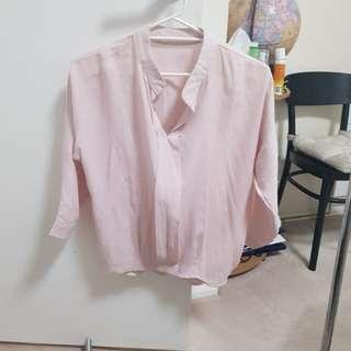 Light pink linen top