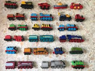 74 Die cast Thomas trains