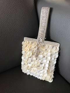 🈹New India Ash Amaira Shell & Stones Evening Handbag 印度閃石貝殼手袋