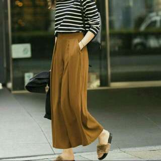 Culottes Brown Highwaisted with Pockets