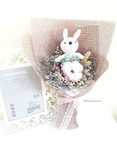 Dried Flower 🌼 Rabbit Plushy Rustic Mix