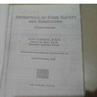 Essentials of Food Safety and Sanitation {copy version}