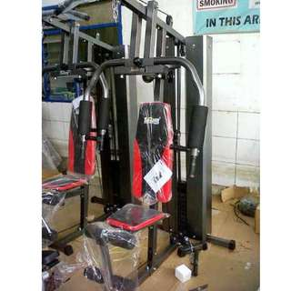 Home Gym 1 Sisi HG-008 Berat Beban 50kg Alat Olahraga Fitness Pembentuk Otot Tubuh