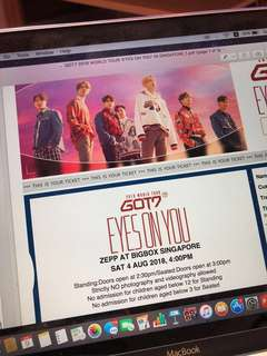 [WTS] GOT7 Eyes On You Concert Tickets
