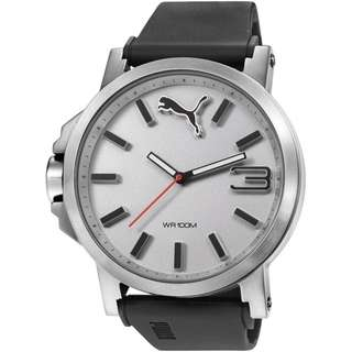 MENS PUMA PU10294 ULTRASIZE 50 - SILVER WHITE WATCH PU102941007