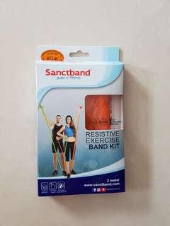Resistive exercise band kit