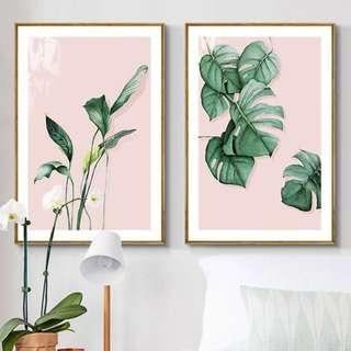 Sweet Leaves Framed Canvas Art