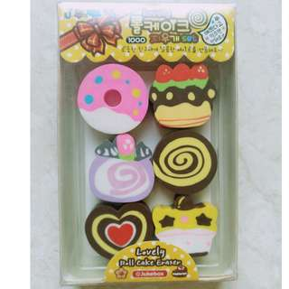 (BN)Korean roll cake eraser set