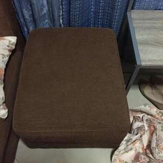 L shape sofa chocolate brown