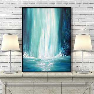 🚚 Waterfall Abstract Art Oil Painting 60cm x 90cm