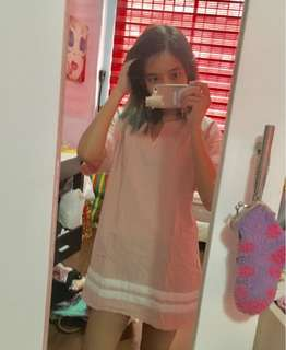 Pink korean boxy dress