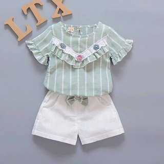 Baby Girl Fashion Set Green