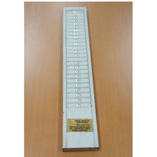 Vintage 1980s Metal 25 Punch Cards Holder