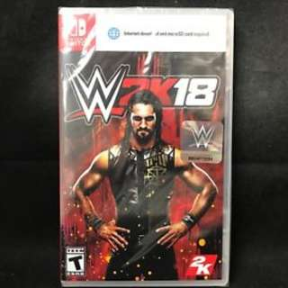 Nintendo Switch WWE 2k18