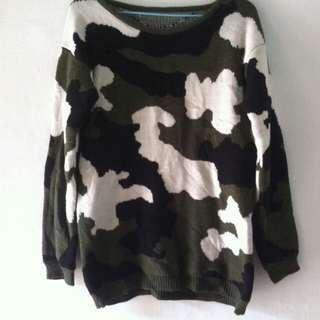 Knitted Camo Sweater