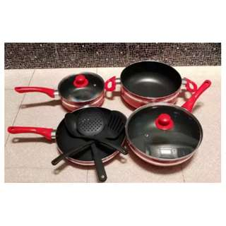 Sale Panci Masak Lengkap Teflon Win Cookware Set 9 Pcs