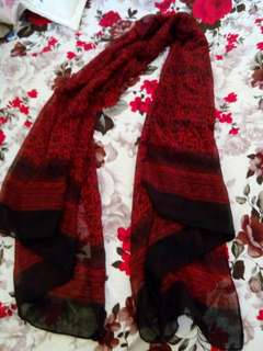 Scarf/ Shawl Red/Black