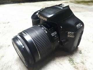 Canon 550d kondisi 90%