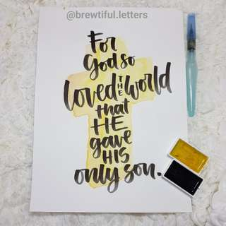 Calligraphy + Watercolor Poster