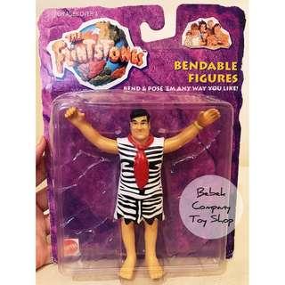 1993 Flintstones CN Fred 摩登原始人 可彎人偶 鐵線人偶 古董玩具 公仔 全新吊卡
