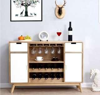 Home81 實木紅酒櫃 包送貨